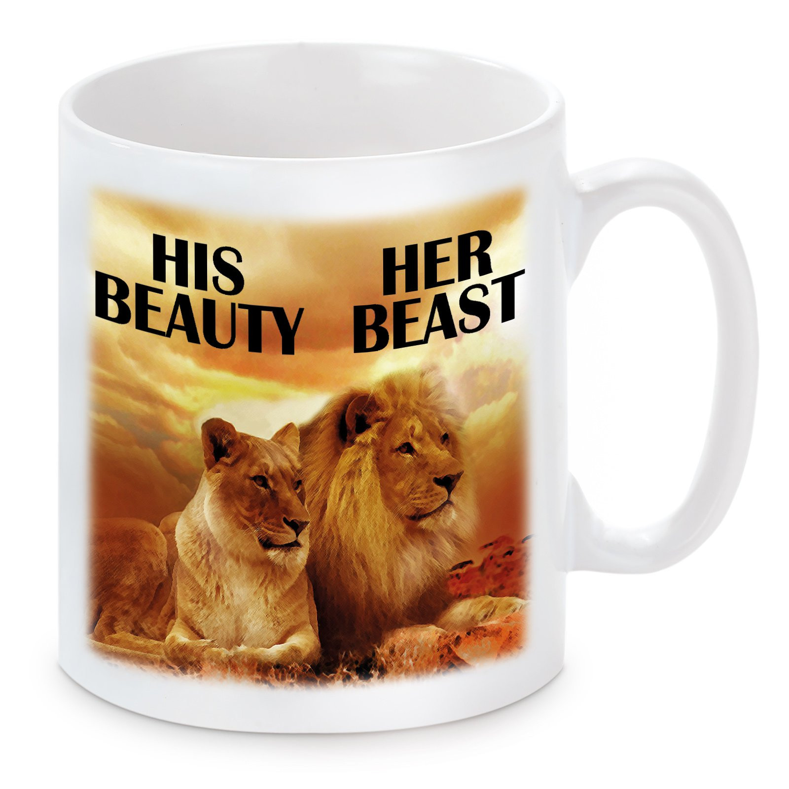 Tasse Modell: His Beauty - Her Beast