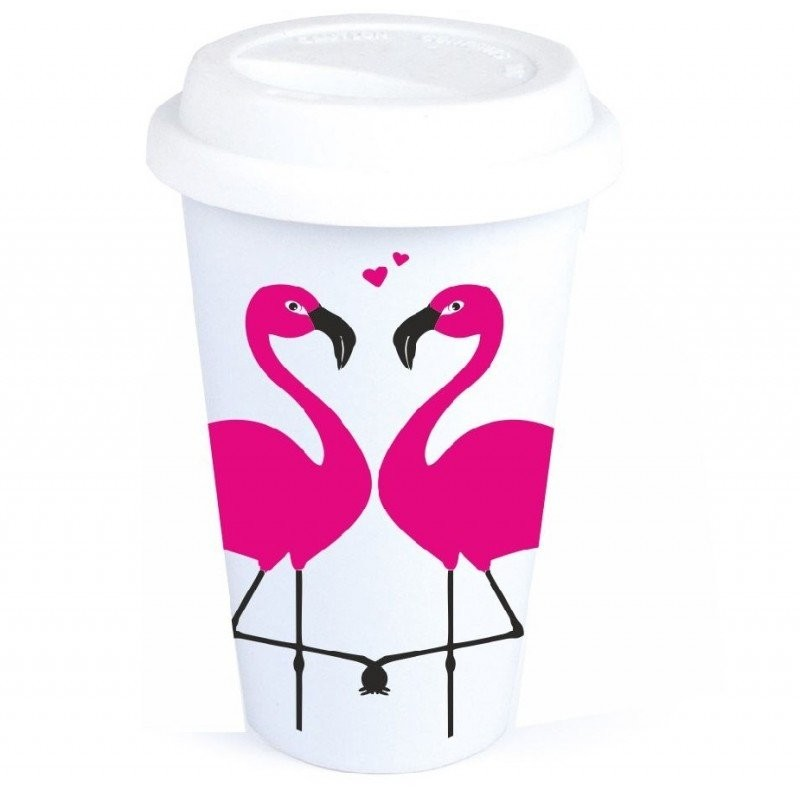 "Coffee-to-Go-Becher ""Flamingos"""