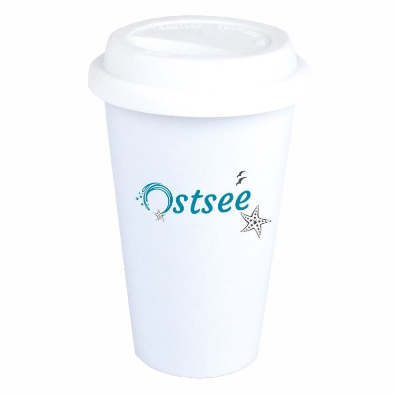 "Coffee-to-Go-Becher mit Motiv ""Ostsee"""