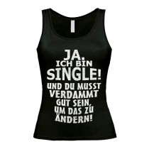 Damen Tank Top Modell: Ja ich bin Single